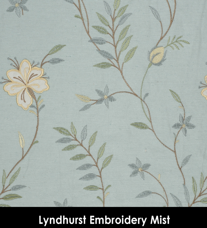 Grommet Panels In Lyndhurst Embroidery Fabric