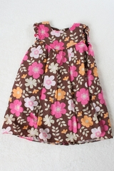 Brown Floral Dress by Carter's - Size 18m