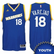 Anderson Varejao Youth Jersey: adidas Stretch Crossover #18 Golden State Warriors Royal NBA Swingman Jersey