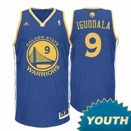 Andre Iguodala Youth Jersey: Adidas  Royal Blue Swingman #9 Golden State Warriors NBA Jersey
