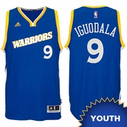 Andre Iguodala Youth Jersey: adidas Stretch Crossover #9 Golden State Warriors Royal NBA Swingman Jersey