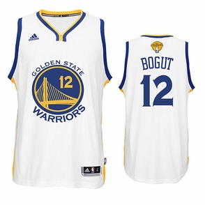 Andrew Bogut Jersey: adidas White Swingman #12 Golden State Warriors Jersey - 2016 Finals Edition - Click to enlarge