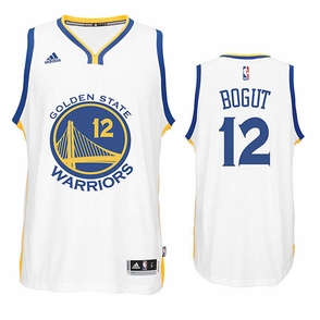 Andrew Bogut Jersey: adidas White Swingman #12 Golden State Warriors Jersey - Click to enlarge