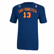San Francisco Warriors adidas Wilt Chamberlain Name & Number Tee-Royal