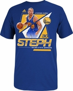 Golden State Warriors adidas Steph Curry Nickname Tee-Royal