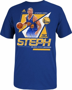 Golden State Warriors adidas Steph Curry Nickname Tee-Royal - Click to enlarge