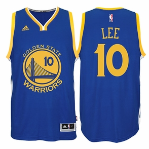 David Lee Jersey: adidas  Royal Blue Swingman #10 Golden State Warriors NBA Jersey - Click to enlarge