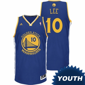 David Lee Youth Jersey: adidas Revolution 30 Road Royal Blue Swingman #10 Golden State Warriors NBA Jersey - Click to enlarge