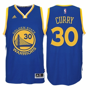 Stephen Curry Jersey: adidas  Royal Blue Swingman #30 Golden State Warriors NBA Jersey - Click to enlarge