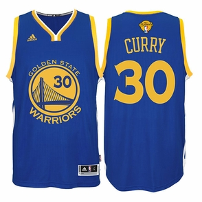 Stephen Curry Jersey: adidas  Royal Blue Swingman #30 Golden State Warriors NBA Jersey - 2016 Finals Edition - Click to enlarge