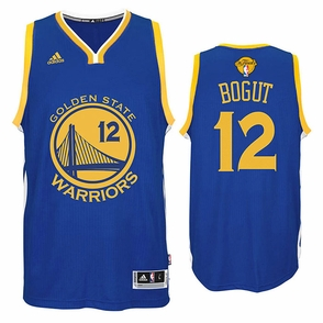 Andrew Bogut Jersey: adidas Royal Blue Swingman #12 Golden State Warriors Jersey - 2016 Finals Edition - Click to enlarge