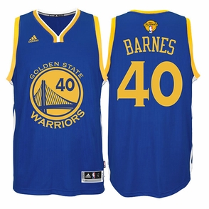 Harrison Barnes Jersey: adidas  Royal Blue Swingman #40 Golden State Warriors NBA Jersey - 2016 Finals Edition - Click to enlarge
