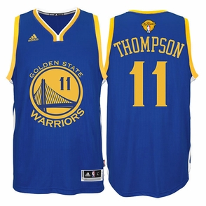 Klay Thompson Jersey: adidas  Royal Blue Swingman #11 Golden State Warriors NBA Jersey  - 2016 Finals Edition - Click to enlarge