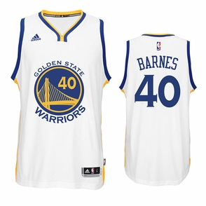 Harrison Barnes Jersey: adidas White Swingman #40 Golden State Warriors Jersey - Click to enlarge