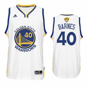 Harrison Barnes Jersey: adidas White Swingman #40 Golden State Warriors Jersey - 2016 Finals Edition - Click to enlarge