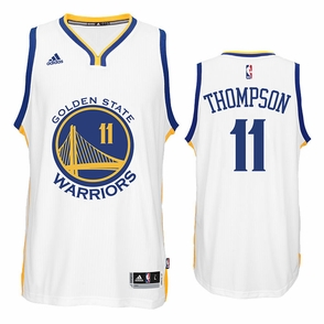 Klay Thompson Jersey: adidas  White Swingman #11 Golden State Warriors NBA Jersey - Click to enlarge