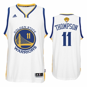 Klay Thompson Jersey: adidas  White Swingman #11 Golden State Warriors NBA Jersey - 2016 Finals Edition - Click to enlarge