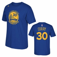 Golden State Warriors adidas Stephen Curry #30 Gametime Player Tee - Royal