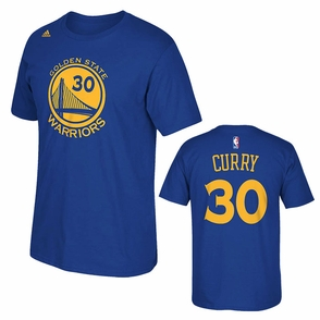 Golden State Warriors adidas Stephen Curry #30 Gametime Player Tee - Royal - Click to enlarge