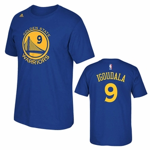 Golden State Warriors adidas Andre Iguodala #9 Gametime Player Tee - Royal - Click to enlarge