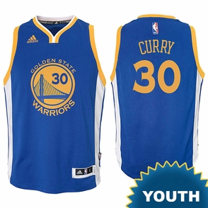 Stephen Curry Youth Jersey: adidas  Road Royal Blue Swingman #30 Golden State Warriors NBA Jersey - Click to enlarge