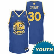 Stephen Curry Youth Jersey: adidas  Road Royal Blue Swingman #30 Golden State Warriors NBA Jersey