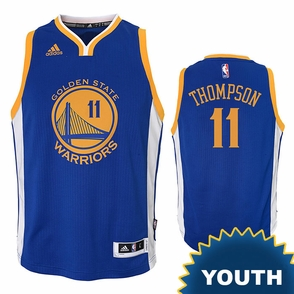 Klay Thompson Youth Jersey: adidas  Royal Blue Swingman #11 Golden State Warriors NBA Jersey - Click to enlarge