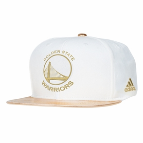 Golden State Warriors adidasPrimary Logo Snapback-2 Toned Gold & White - Click to enlarge