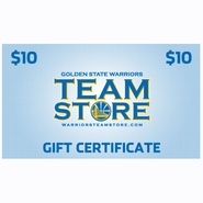 Golden State Warriors $10 Online Gift Certificate