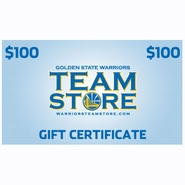 Golden State Warriors $100 Online Gift Certificate