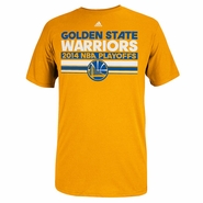 Golden State Warriors 2014 Adidas Playoff Clinch Mesh Bar Tee - Gold