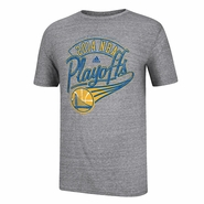 Golden State Warriors 2014 Adidas Playoffs Tailsweep Tee - Grey