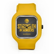 Golden State Warriors 2015 Playoff Slogan Watch with Gold Strap - Will Ship 4/24