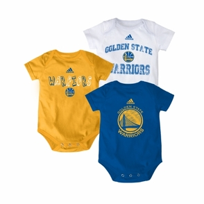 Golden State Warriors 3 Pack Creeper-MTC - Click to enlarge
