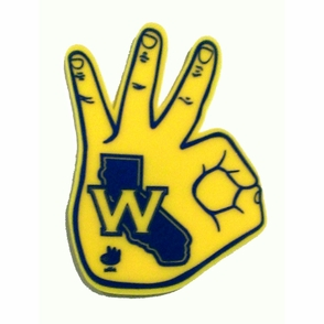 Golden State Warriors 3-Point Foam Hand - Click to enlarge