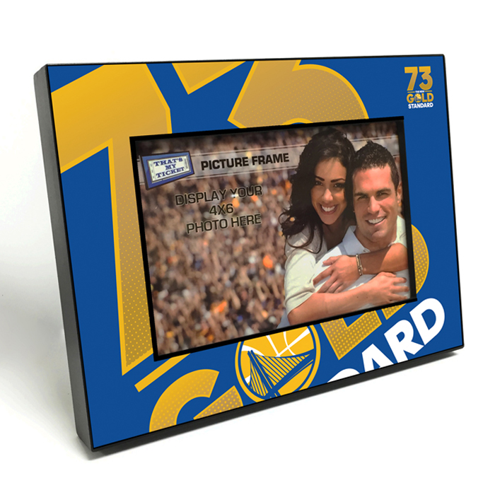 Golden State Warriors 73 Wins Wooden 4x6 inch Picture Frame