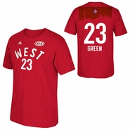 Golden State Warriors adidas 2016 NBA All-Star Draymond Green #23 Western Conference Gametime Player Tee - Red