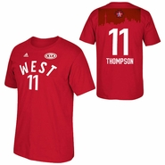 Golden State Warriors adidas 2016 NBA All-Star Klay Thompson #11 Western Conference Gametime Player Tee - Red