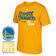 Golden State Warriors adidas 2016 NBA Playoffs On-Court Mantra Tee - Gold