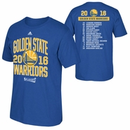 Golden State Warriors adidas 2016 NBA Playoffs Participant Athletic Roster Tee - Royal