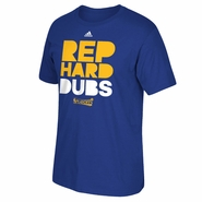 Golden State Warriors adidas 2016 NBA Playoffs Rep Hard Dubs Tee - Royal