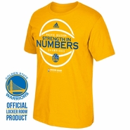 Golden State Warriors adidas 2016 Pacific Division Champion Locker Room Tee - Gold