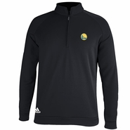 Golden State Warriors Adidas 3-Striped Piped 1/4 Zip - Black
