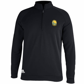 Golden State Warriors Adidas 3-Striped Piped 1/4 Zip - Black - Click to enlarge