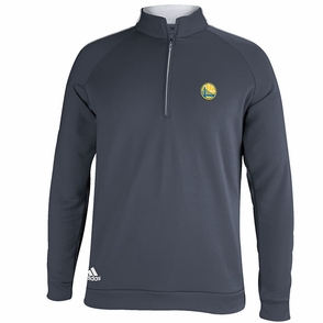 Golden State Warriors Adidas 3-Striped Piped 1/4 Zip - Grey - Click to enlarge