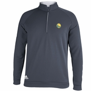 Golden State Warriors Adidas 3-Striped Piped 1/4 Zip - Grey