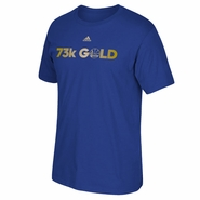 Golden State Warriors adidas 73 Carat Gold Short Sleeve Tee - Royal