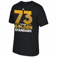 "Golden State Warriors adidas ""73"" Golden Standard Short Sleeve Tee - Black"