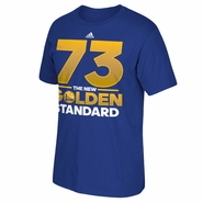 "Golden State Warriors adidas ""73"" Golden Standard Short Sleeve Tee - Royal"