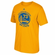 Golden State Warriors adidas 73 Wins Golden Season Logo Tee - Gold